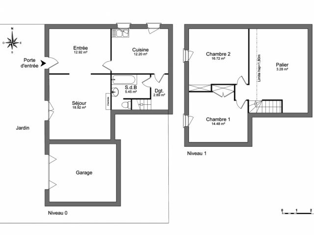 Maison 3 pièces 87 m2 Échillais