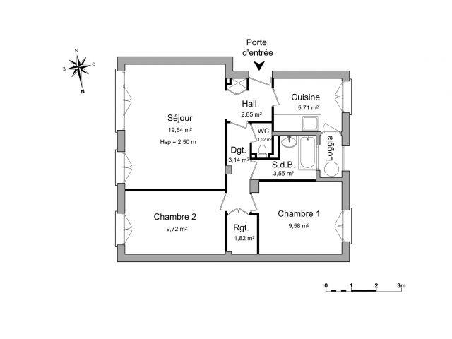 Appartement 3 pièces 57 m2 Eaubonne