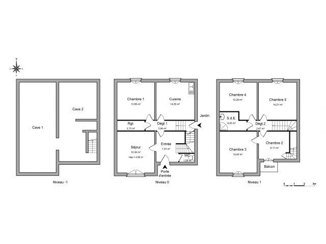 Maison 6 pièces 116 m2 Neuves-Maisons
