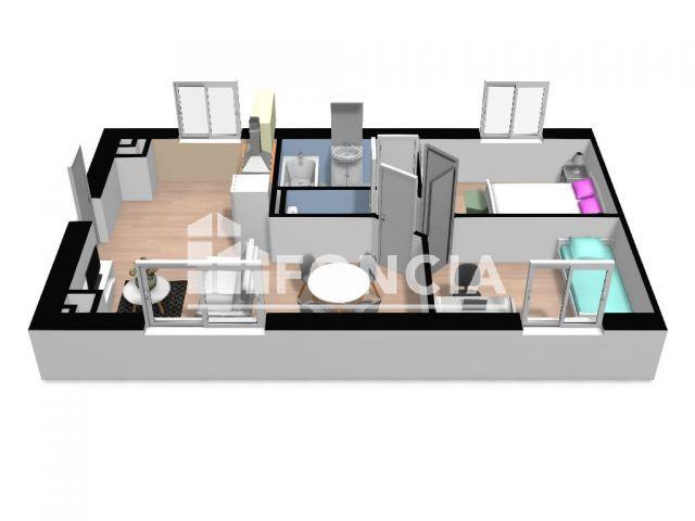 Appartement 3 pièces 45 m2 Molliens-Dreuil