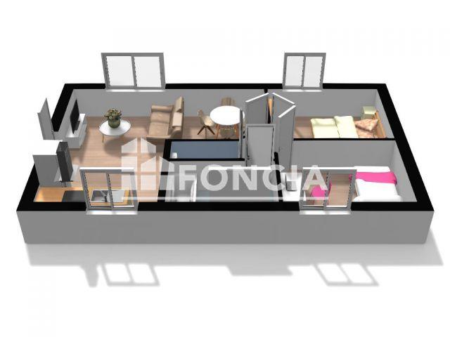Appartement 3 pièces 44 m2 Molliens-Dreuil