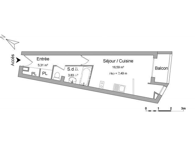 Appartement meubl 1 pi ce louer toulouse 31400 foncia for Location appartement meuble toulouse