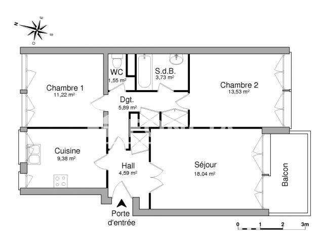 appartement meubl 3 pi ces louer rennes 35000 foncia. Black Bedroom Furniture Sets. Home Design Ideas