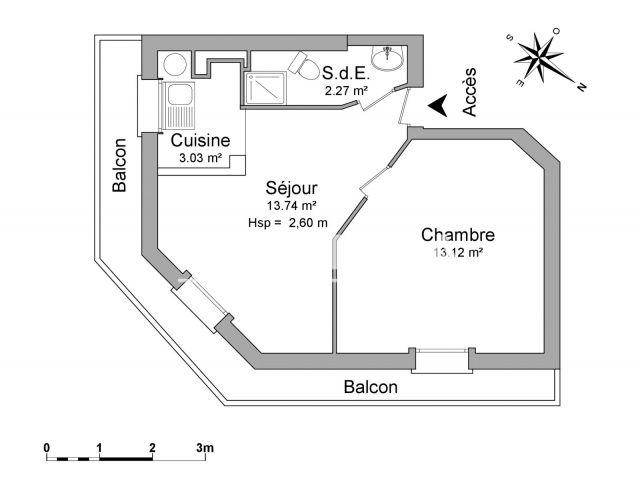 appartement 2 pi ces louer issy les moulineaux 92130. Black Bedroom Furniture Sets. Home Design Ideas