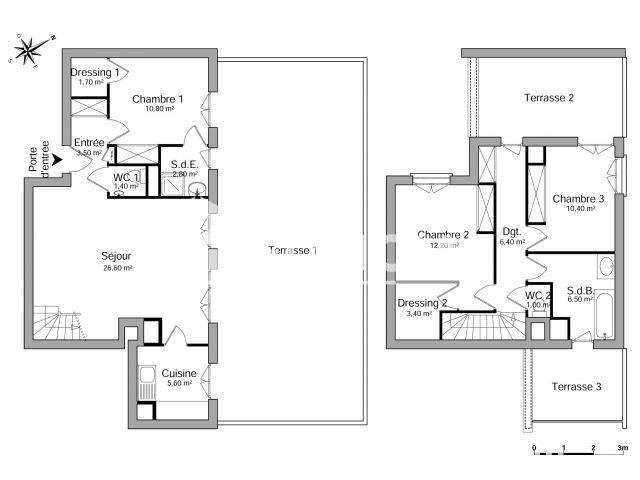 Appartement louer Bordeaux 331- m