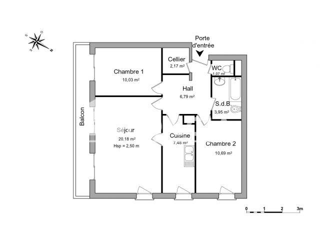 appartement meubl 3 pi ces louer lille 59000 foncia. Black Bedroom Furniture Sets. Home Design Ideas