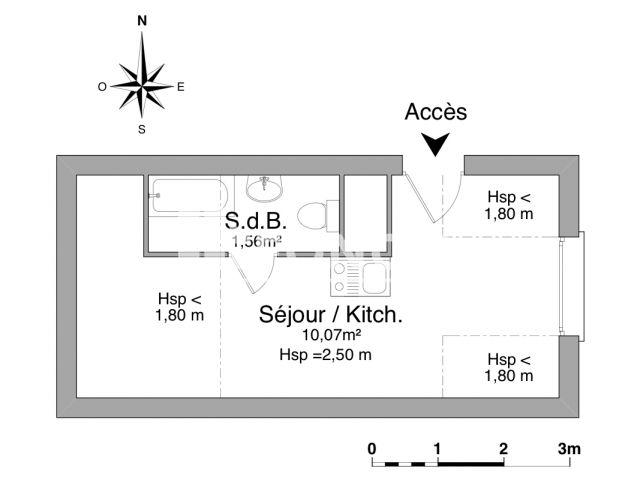 Appartement meubl 1 pi ce louer nantes 44000 foncia for Appartement meuble nantes