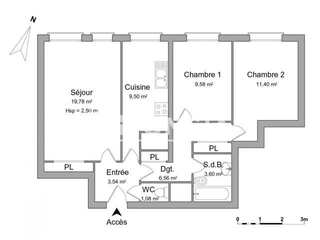 Appartement meubl 3 pi ces louer paris 75013 foncia for Meuble a louer paris