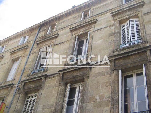 Appartement Meubl 1 Pi Ce Louer Bordeaux 33000 Foncia