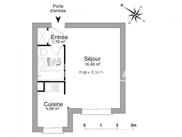 appartement meubl 1 pi ce louer clermont ferrand. Black Bedroom Furniture Sets. Home Design Ideas