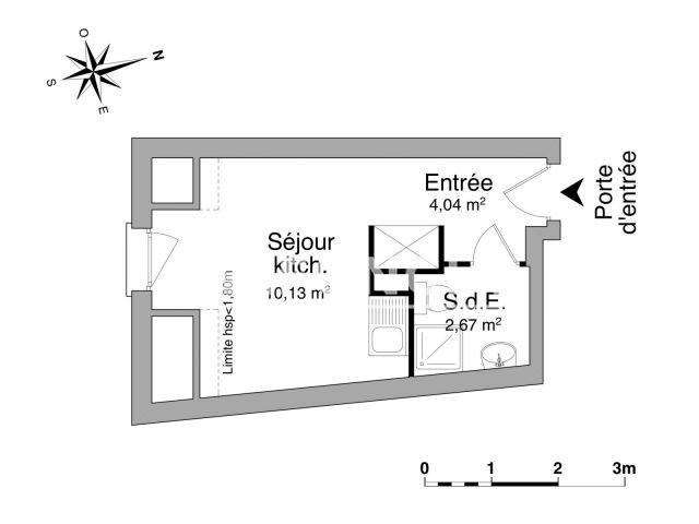 appartement meubl 1 pi ce louer rouen 76000 foncia. Black Bedroom Furniture Sets. Home Design Ideas
