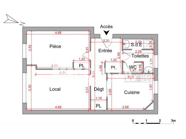 local commercial 3 pi ces louer nancy 54000 foncia. Black Bedroom Furniture Sets. Home Design Ideas