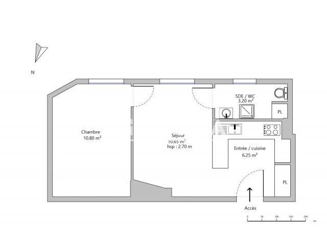 Appartement meubl 2 pi ces louer paris 75013 foncia for Appartement meuble location paris