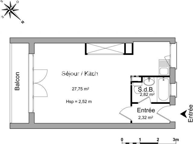 Appartement meubl 1 pi ce louer lyon 69008 foncia for Appartement meuble a louer lyon