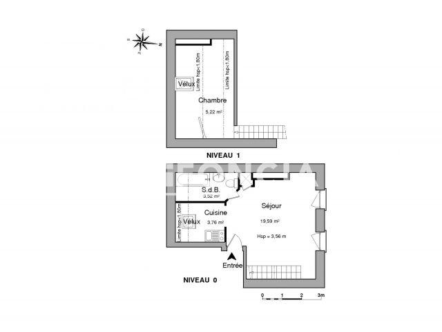 appartement meubl 2 pi ces louer lille 59800 foncia. Black Bedroom Furniture Sets. Home Design Ideas