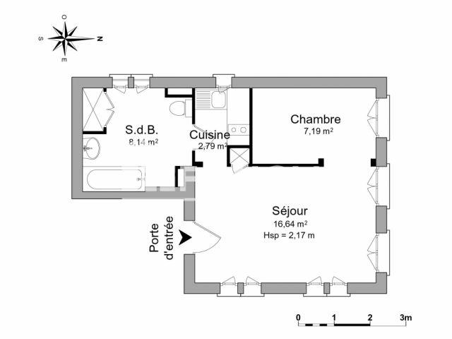 appartement meubl 1 pi ce louer strasbourg 67000 foncia. Black Bedroom Furniture Sets. Home Design Ideas