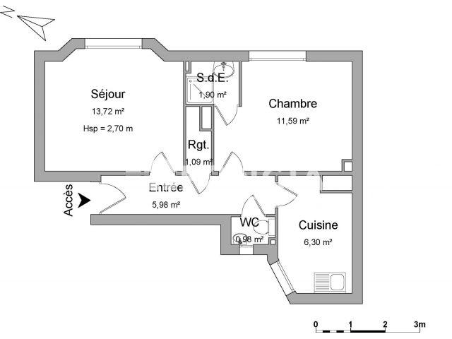 appartement 2 pi ces louer asnieres sur seine 92600 foncia. Black Bedroom Furniture Sets. Home Design Ideas