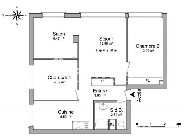 Appartement meubl 3 pi ces louer nancy 54000 foncia for Appartement meuble nancy