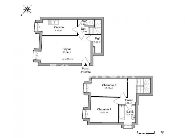 appartement 3 pi ces louer massy 91300 m2. Black Bedroom Furniture Sets. Home Design Ideas