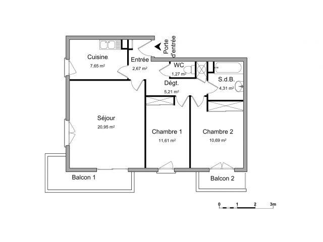 appartement à louer sur corbarieu