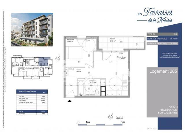 Appartement à vendre sur Bellegarde Sur Valserine
