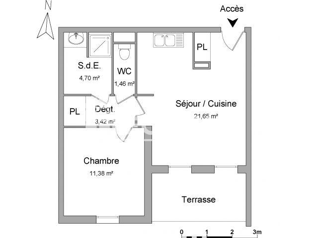 Appartement à louer, Marseille (13010)