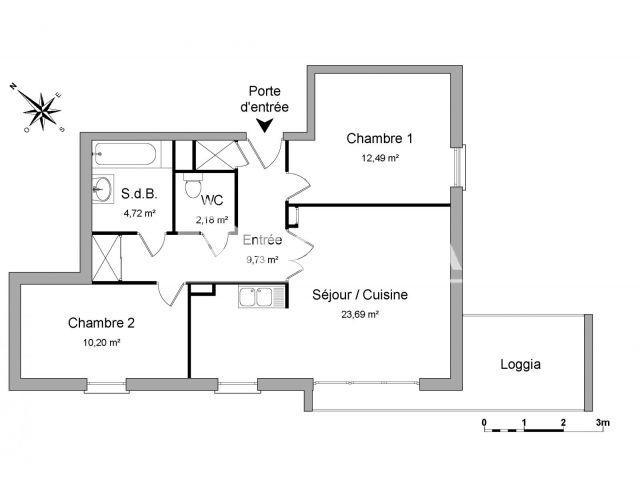 Appartement à louer, Roubaix (59100)
