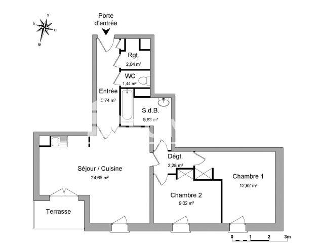 Appartement à louer, Marseille 13 (13013)