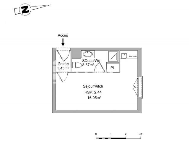 Appartement à louer, Lyon (69007)