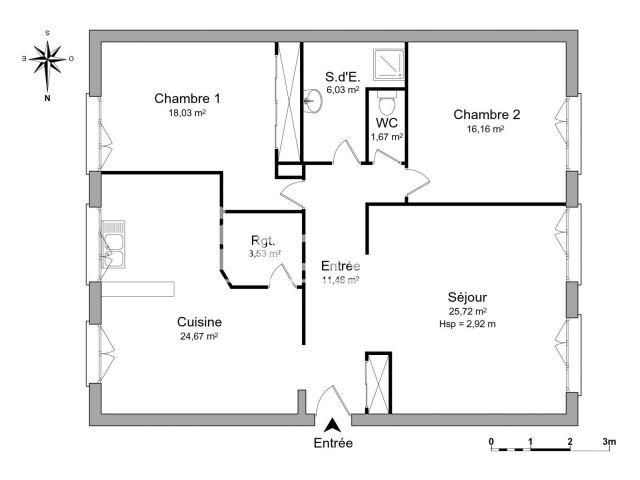 Appartement à louer, Donzere (26290)