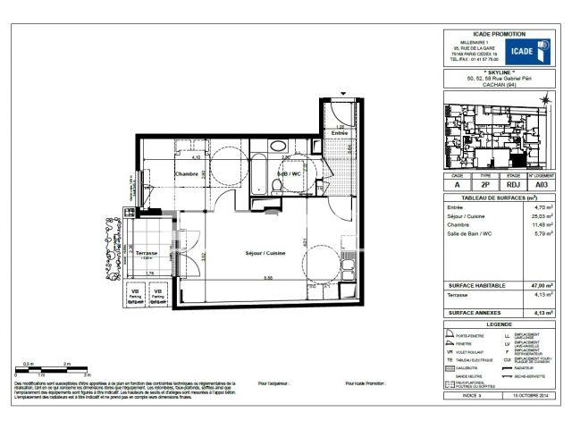 Appartement à louer, Cachan (94230)