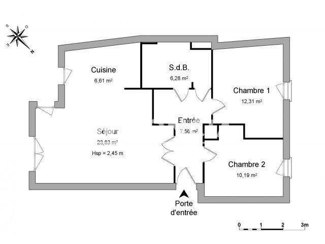 Appartement à louer, Nantes (44200)