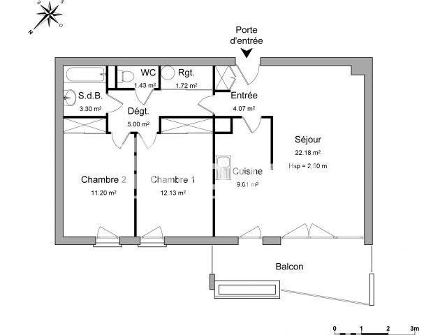 Appartement à louer, Marseille (13009)