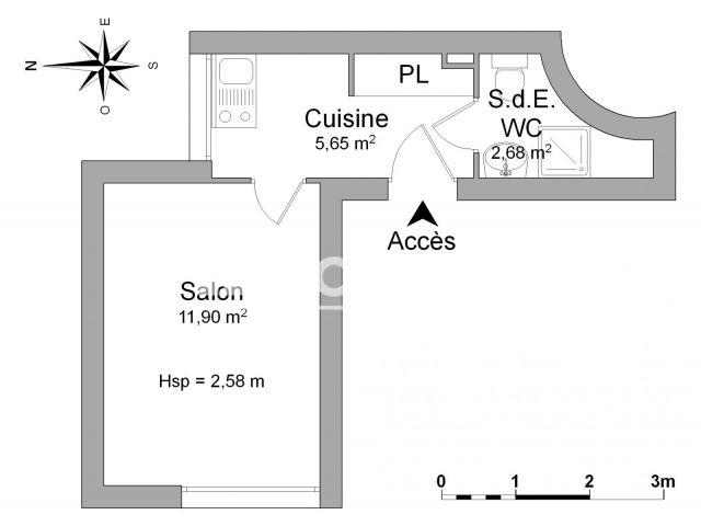 Appartement meublé à louer, Juan Les Pins (06160)