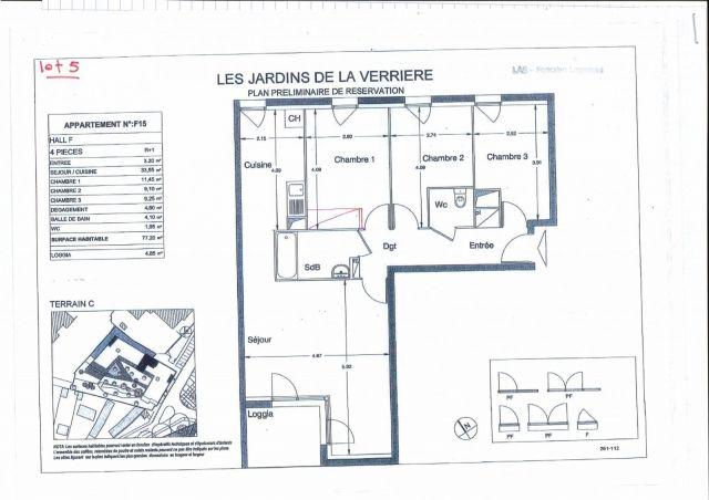 Appartement à louer sur La Verriere