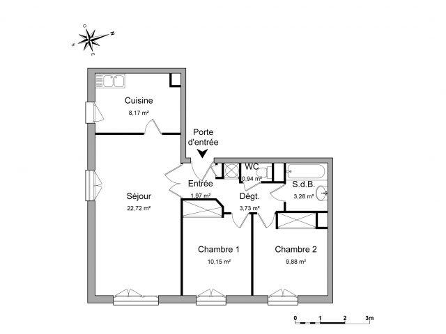 Appartement à louer sur Vaureal