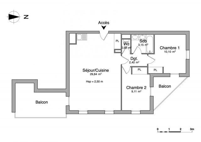 Appartement à louer sur Port Saint Louis