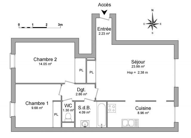 Appartement à louer sur Le Blanc-mesnil